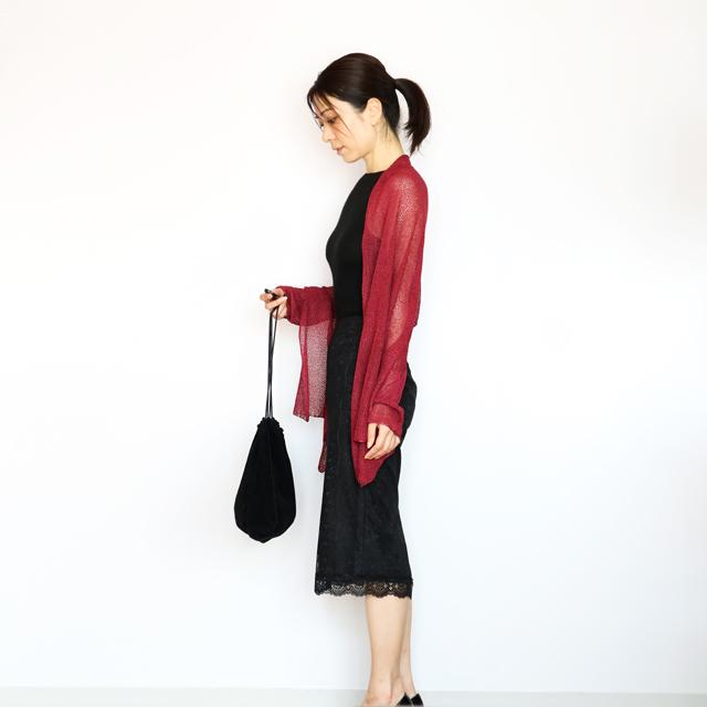 Rigel[リゲル] 袖付きストール / ディープ・レッド