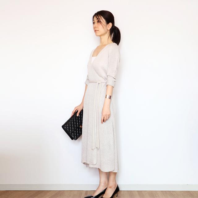 Mebsuta[メブスタ] ロング・カシュクール長袖 / アイシー・グレー