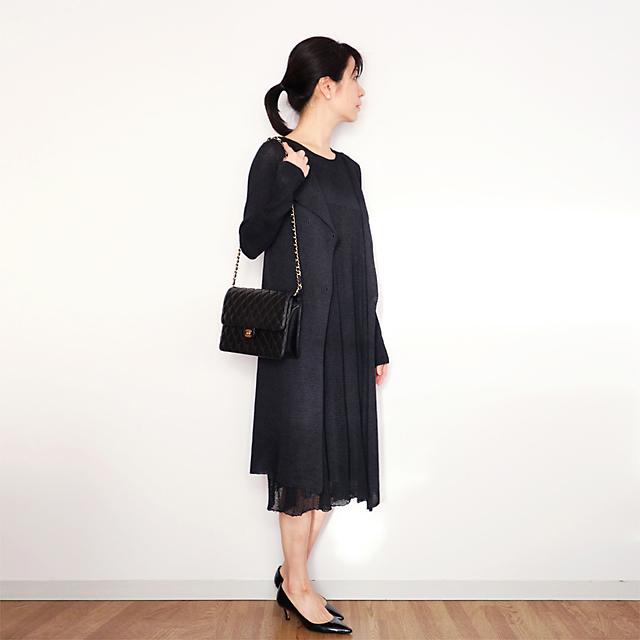 Corvus[コルブス] ロング丈・ダブルジャケット / ブラック