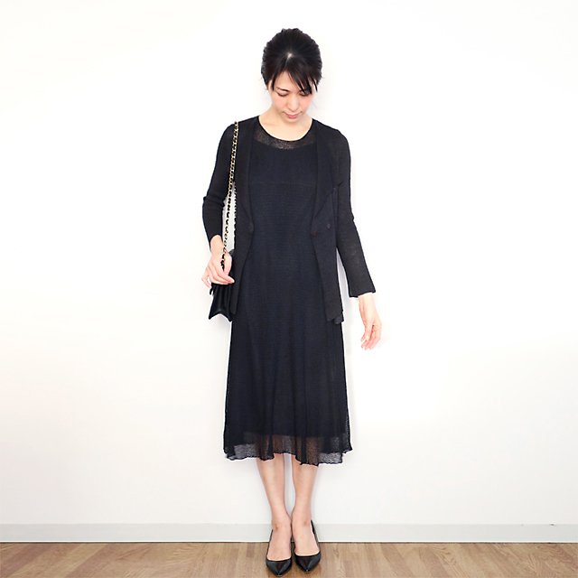 Sothis[ソティス] 七部袖ダブルジャケット / ブラック