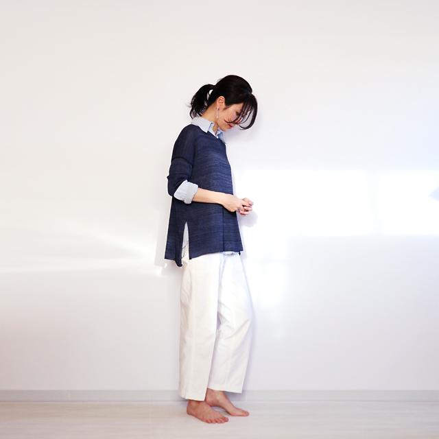 Ursa[ウルサ] ボクシー・セーター8 / ネイビー・ブルー
