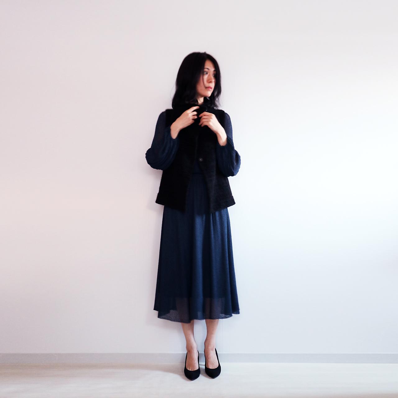 Edasich[エダシク] シルクモール・ベスト / ブラック