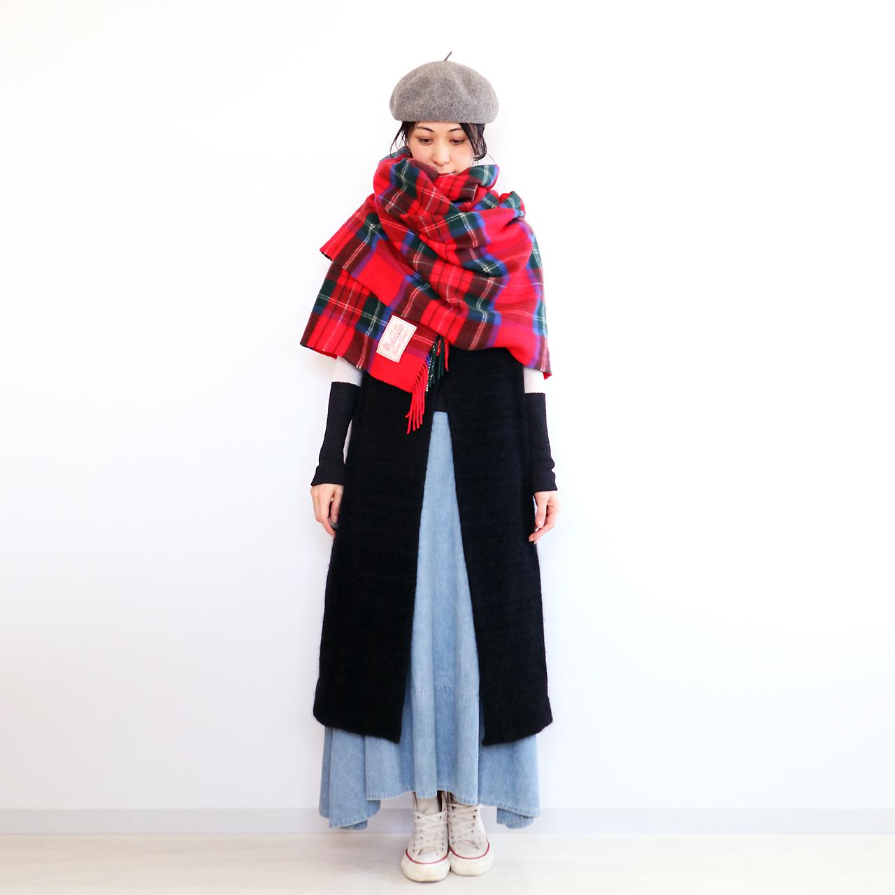 Rigil[リギル] シルクモール・ノースリーブコート / ブラック