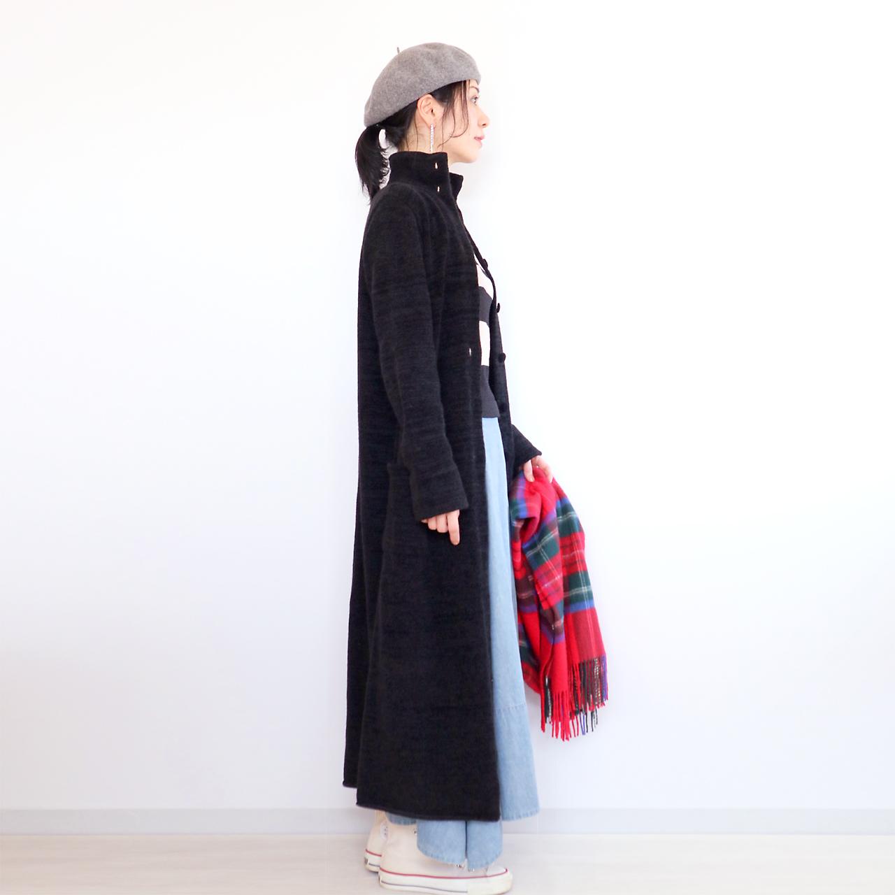 Deneb[デネブ] ロングコート / ブラック