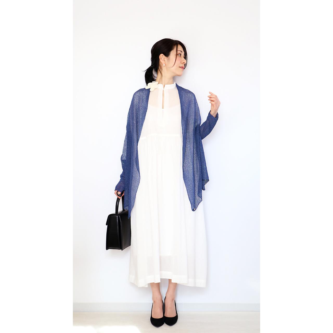 Rigel[リゲル] 袖付きストール / ナイト・ブルー