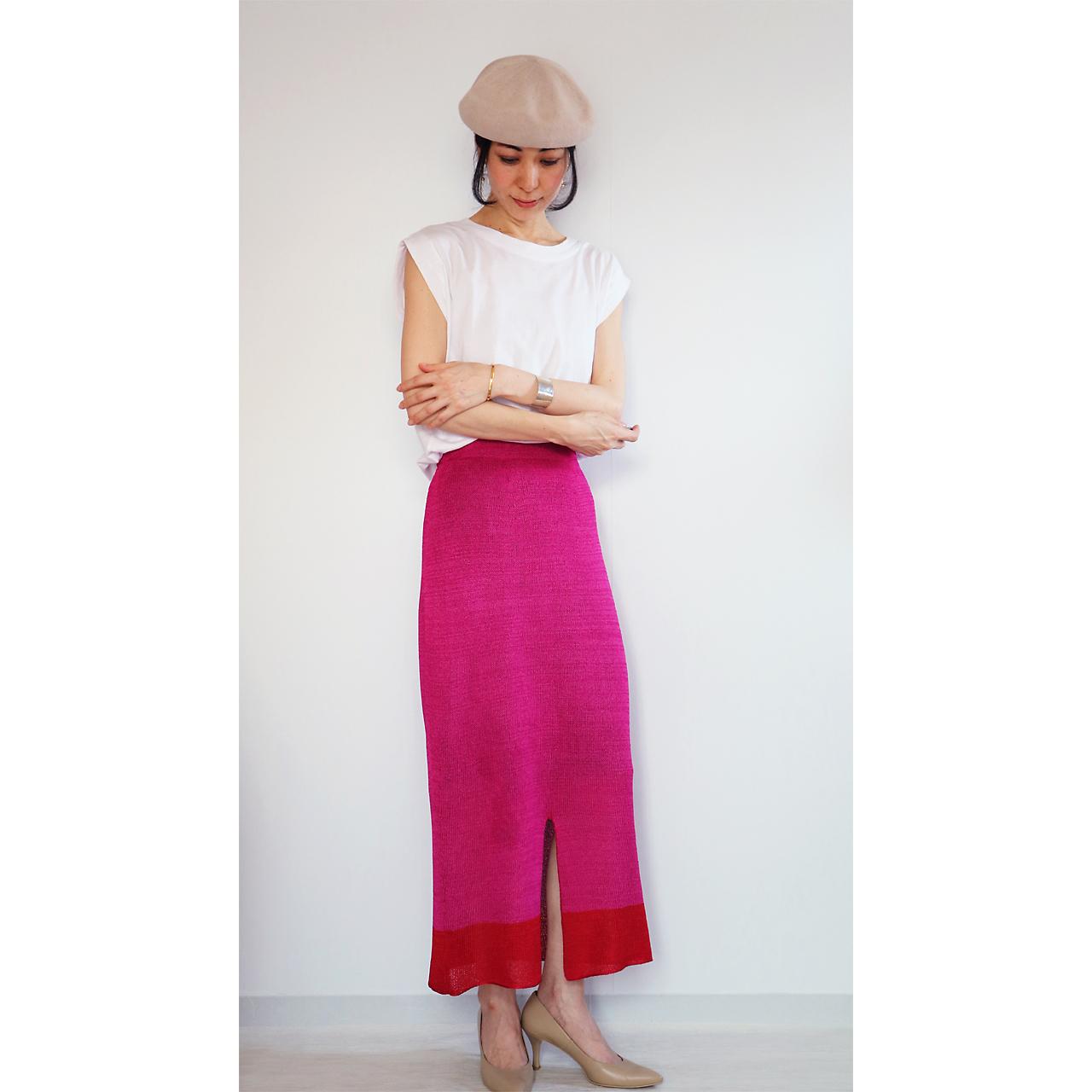 Sualocin[スアロキン] ナロー・スカート2 / ピンク系1