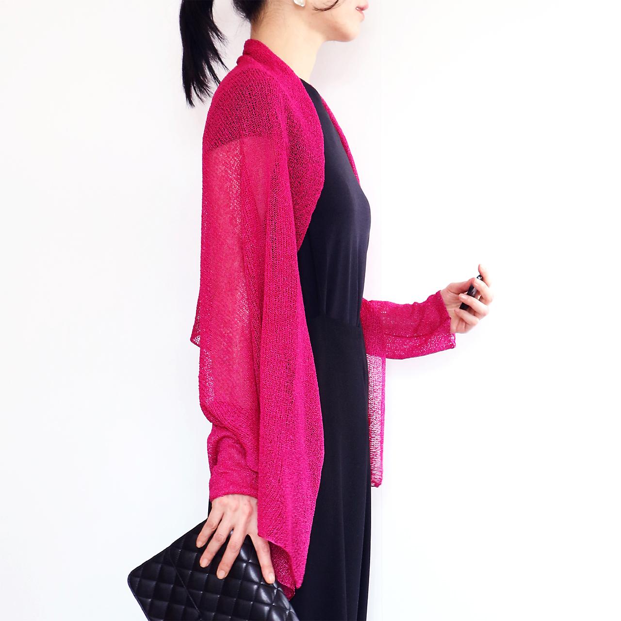 Rigel[リゲル] 袖付きストール / フューシャ・ピンク