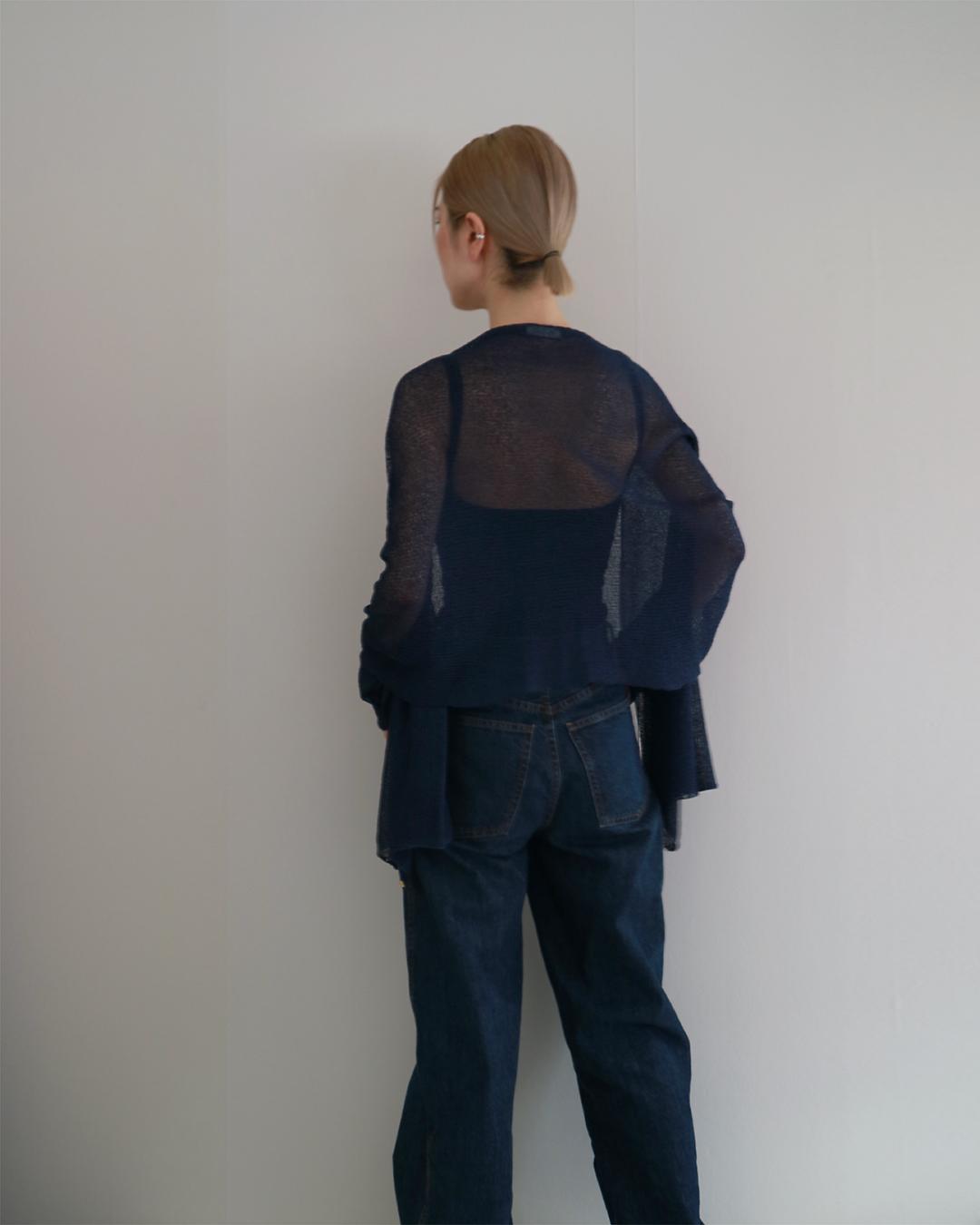 Rigel[リゲル] 袖付きストール / ネイビー・ブルー