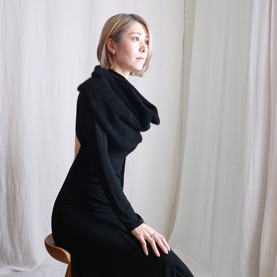 Muphrid[ムフリド] シルクモール・スヌード・ケープ3 / ブラック