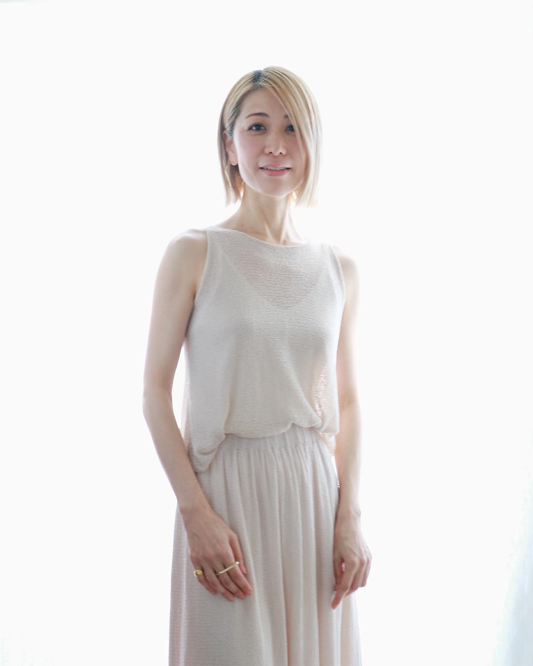 Errai[エライ]ノースリーブ・トップス /ビーチサンド・ベージュ